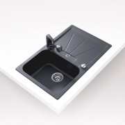 TEKA Cara 45 B TG gránit mosogatótálca - megfordítható kivitel - topázbézs