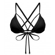 Sunseeker Solids Triangle Top Black Bikini Sunseeker