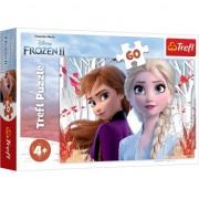 Puzzle Trefl, Disney Frozen II, Ana si Elsa, 60 piese