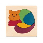 Hape George Luck Rainbow Cat Wood Puzzle (7 Piece)
