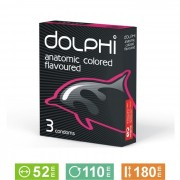 Prezervative Dolphi Anatomic Colored Flavoured