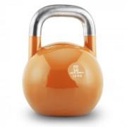 Compket 28 Kettlebell Bola de Peso 28 kg Aço Halterofilia Musculação Exercício Fitness Laranja
