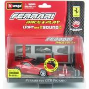 Bburago - Ferrari 599GTB Fiorano fekete 1:43 Race & Play light and sound játékszett