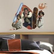 RoomMates RMK3014GM Star Wars Classic Burst P&S calcomanía gigante para pared, 28.5 pulgadas de ancho x 24 pulgadas de alto