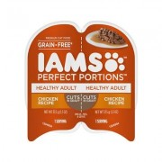 Iams Perfect Portions Healthy Adult Chicken Recipe Grain-Free Cuts in Gravy Wet Cat Food Trays, 2.6-oz, case of 24 twin-packs