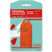 AviationTag Windrose - Airbus A330 – UR-WRQ (Red)