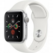 Apple Watch S5 44mm Silver Alu White Sport MWVD2