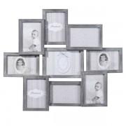 Maisons du monde Marco para 9 fotos de madera gris 50 x 58 cm RELIEF