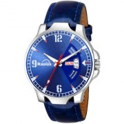 Radius Blue Leather Strap RQ-2026 Day and Date Functioning Casual Dial Watch - For Men