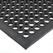 Černá gumová olejivzdorná protiskluzová protiúnavová průmyslová modulární rohož - 150 x 90 x 1,25 cm (80000518) FLOMAT