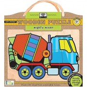 Innovative Kids Green Start Wooden Puzzles: Mighty Mixer (3Yrs+) Puzzle