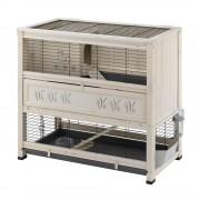 Gaiola de madeira Indoor Home - Branco: C 108 cm x L 59 cm x A 102,5 cm - 2 embalagens