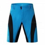 WOSAWE BC131 Pantalones cortos de ciclismo transpirable para hombre - Negro? Azul (L)