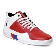 Shoeson men's white red Casual shoes