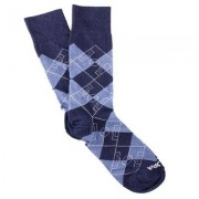 COPA Football - Argyle Pitch Sokken - Denim Blauw/ Wit
