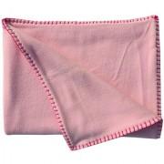 Wobbly Walk Double Fleece Baby Pink Blanket with Woven Handwork on Border