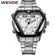 WEIDE Fashion Casual Luxury Watches Men Luxury Brand Quartz Watch Stainless Steel Waterproof MilitaryRelogios Masculino WH1102