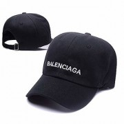 Unisex Cotton High Quailty Adjustable Caps Hats Sports Tennis Baseball Cap(Balenciaga-BLK)