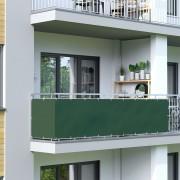 Jarolift Malla de Ocultación para Balcón, BASIC, Tejido Impermeable, Verde oscuro, 500x90 cm