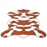 vidaXL Oblikovani Tepih 70x110 cm Kravlji print Smeđa boja