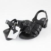 Sandale piele naturala dama - negru, Agressione - S-119-1-Negru