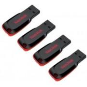 SanDisk Cruzer Blade (Pack Of 4) 8 GB Pen Drive(Red, Black)
