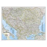 Wandkaart The Balkans - Balkan landen, 77 x 60 cm | National Geographic