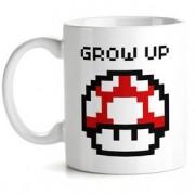 Caneca Cogumelo Vermelho Pixel Super Mario Bros