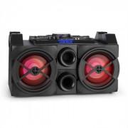 Ibiza SPLBOX300-Port mobile DJ-Box 300W Bluetooth USB UKW LED Sistema de audio con mesa de mezclas (SPLBOX300-PORT)