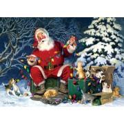 Puzzle Cobble Hill - Santa's Little Helper, 500 piese XXL (65011)
