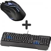 Геймърска клавиатура Hama Urage Lethality USB - HAMA-113710 + Геймърска мишка uRage Reaper neo, Черна, HAMA-113748