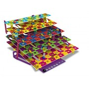 The Happy Puzzle Company Multi-Level Snakes & Ladders - A Colorful Modern Take On Classic Game. Land Ladder To Climb Levels, Or Snake And Slide Through Tunnels Lower Level. Fun Family