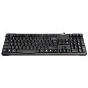 Tastatura USB A4TECH Comfort round Black (KR-750-USB), wired cu 109 taste inscriptionate laser, tasta suplimentara Backspace si rezistenta la apa