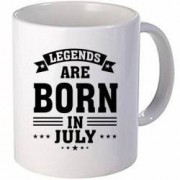 Cana personalizata ceramica 300 ml Legends are born in July