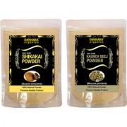 Donnara Organics 100% Natural Shikakai Powder and Kaunch Beej powder Combo pack of 2 of 150 gms(300 gms)