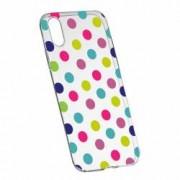 Husa Silicon Transparent Slim Dots Color HTC Desire 12