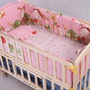 ER 100*110*58cm/60cm 5pcs/Set De Ropa De Cama De Algodón De Promoción Baby Niños Set - Rosa