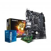 Combo Actualización Intel Pentium G5400 8va H310 8gb-Negro