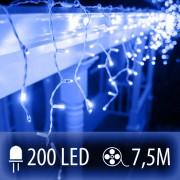 LED SVETELNÁ ZÁCLONA 200LED 7.5M MODRÁ