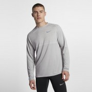Nike Dri-FIT Medalist Langarm-Laufoberteil für Herren - Grau