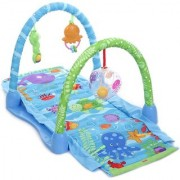 Emob Aquarium Ocean Theme Kick and Crawl Activity Play Mat Gym for your Little One (Multicolor)