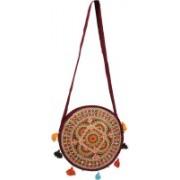 Craft Trade Brown Assorted Design Shoulder Bag Multicolor Sling Bag