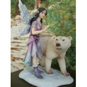 Tündér jegesmedvével szobor