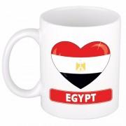 Bellatio Decorations Egyptische vlag hartje theebeker 300 ml