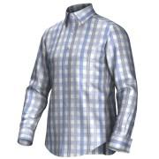Maatoverhemd blauw/grijs/wit 55275
