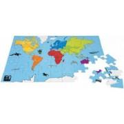 Puzzle din lemn Harta lumii Buitenspeel