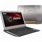 Лаптоп Asus G752VM-GC019T, Intel Core i7-6700HQ, 17.3 инча FullHD IPS AG, 16GB, 1TB + 256GB SSD, Сребрист, 90NB0D61-M01250