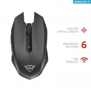 Mouse, TRUST GXT 115 Macci, Gaming, Wireless, Black (22417)