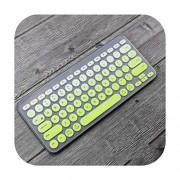 Keyboard Cover Protector de Teclado Ultrafino de Silicona para Teclado Logitech K380, Verde