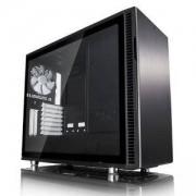 Кутия за компютър Fractal Design Define R6 Black TG, 3 x Dynamic X2 GP-14 140 mm, черен, FD-CA-DEF-R6-BK-TG
